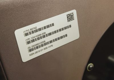 AlumaTough Metal Barcode Tags for Equipment and OEM